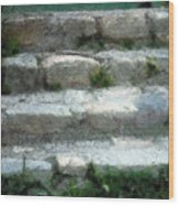 Fieldstone Stairs New England Wood Print