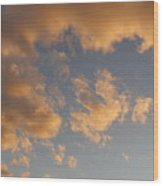 Fiery Clouds Wood Print