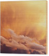 Fiery Cloudscape Wood Print