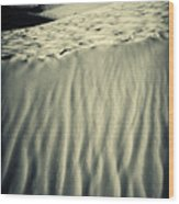 Fiery Desert Sand II Wood Print