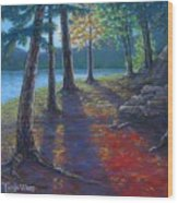 Fiery Fall Afternoon Wood Print