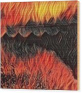 A Hot Valley Of Flames Wood Print