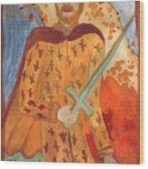 Fiery King Of Swords Wood Print