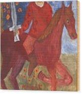 Fiery Knight Of Swords Wood Print