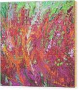 Fiery Meadow Wood Print