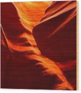 Fiery Sandstone Abstract Wood Print