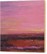 Sold Fiery Sea Wood Print