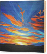 Fiery Skies Wood Print