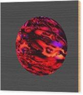 Fiery Sphere. Wood Print