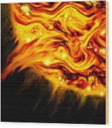 Fiery Sun Erupting With M1.7 Class Solar Flare Wood Print