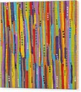Fiesta Abstract Wood Print