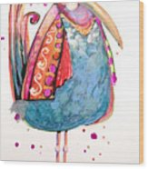 Fiesta Bird Wood Print
