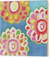 Fiesta Floral 3- Art By Linda Woods Wood Print