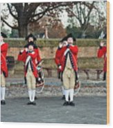 Fifes And Drums Wood Print