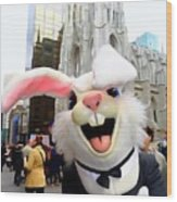 Fifth Ave Easter Bunny Wood Print