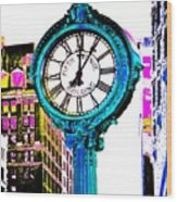 Fifth Avenue Building Clock New York  Wood Print