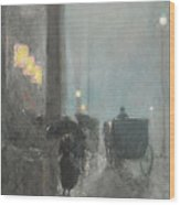 Fifth Avenue, Evening Wood Print