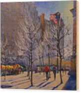 Fifth Avenue - Late Winter At The Met Wood Print