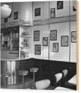 Fifties Diner Wood Print