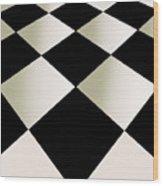 Fifties Kitchen Checkerboard Floor Wood Print