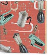 Fifties Kitchen Iv Wood Print