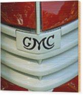 Gmc Grill Wood Print