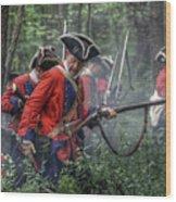 Fight In The Forest Bushy Run 1763 Wood Print