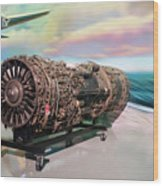 Fighter Jet Engine Wood Print