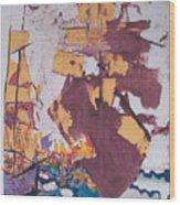 Fighting Ships Wood Print