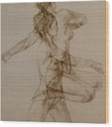 Figurative Movement Wood Print