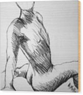 Figure Drawing 1 Wood Print