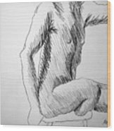 Figure Drawing 3 Wood Print