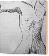 Figure Drawing 5 Wood Print