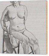 Figure Drawing Wood Print