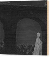 Figure In The Night Wood Print