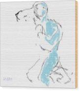 Figure/man Wood Print