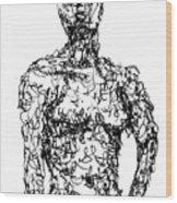 Figure Wood Print by Sam Sidders