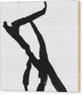 Figure Silhouette Wood Print