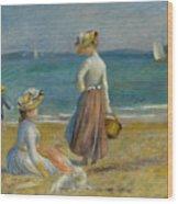 Figures On The Beach, 1890 Wood Print