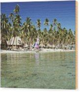 Fiji Resort Wood Print