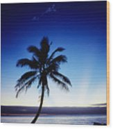 Fiji Sunset Wood Print