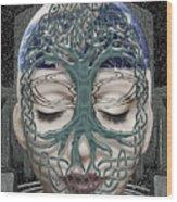 Fildais Celtic Goddess Wood Print