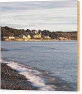 Filey Shore Wood Print