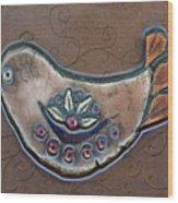 Filigree Bird Wood Print