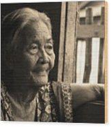 Filipino Lola - Image 14 Sepia Wood Print