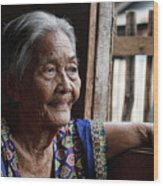 Filipino Lola - Image Number Fourteen  Wood Print