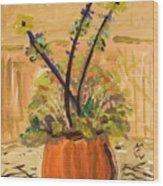 Filled Terra Cotta Vase Wood Print