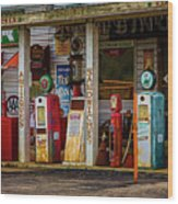 Filling Station Wood Print