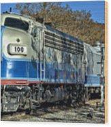 Fillmore And Western Railway Christmas Train 3 Wood Print