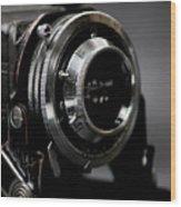 Film Camera In Black Wood Print